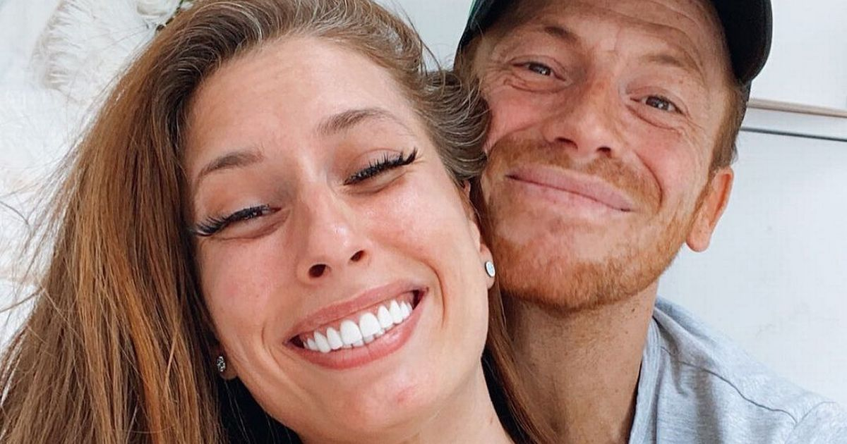 Stacey Solomon says she fancies Joe Swash 'so much' as he plays with the boys