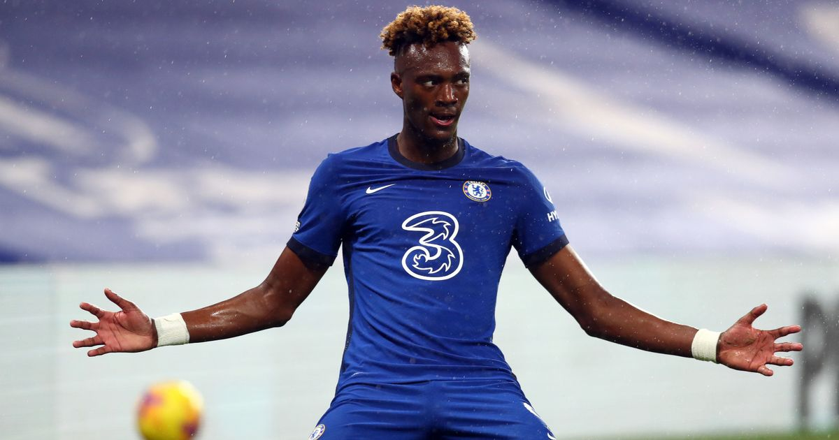 Frank Lampard challenges Tammy Abraham as he details Chelsea striker's progress