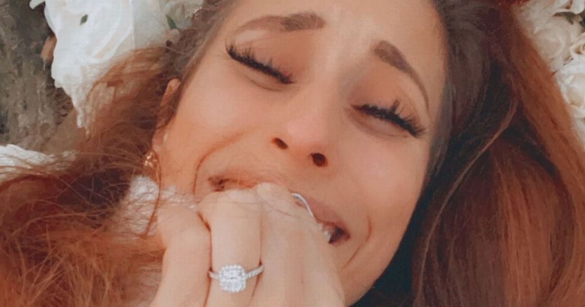 Joe Swash's romantic woodland proposal as he pops the question to Stacey Solomon