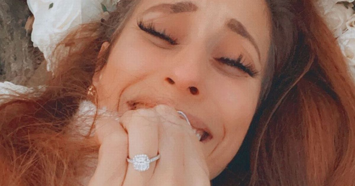 Stacey Solomon's hand shakes and she can't stop crying after Joe Swash proposed