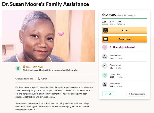 A GoFundMe crowdfunding effort started for Moore's family has already raised more than $120,000
