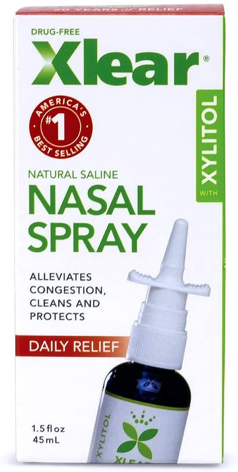 Xlear is a nasal spray that has been around for years, and its main purpose is to clear out the nose. It is made with grapefruit seed extract and xylitol, a short carbon-based molecule