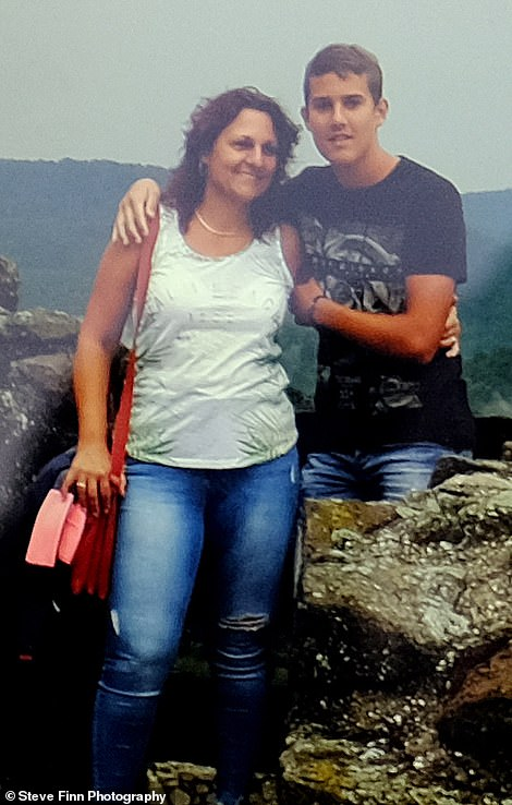 Driver Andik Jozsef as told wife Bernadett, 46, son Daniel (pictured together), 22, and daughter Kristof, 15 that he won't be coming home for Christmas