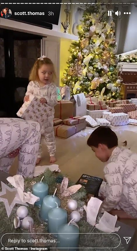 Family time! Ryan's brothers Scott and Adam appeared to have bubbled up to spend the day together, as former Love Island star Scott, 32, shared snaps of his niece and nephew opening their presents