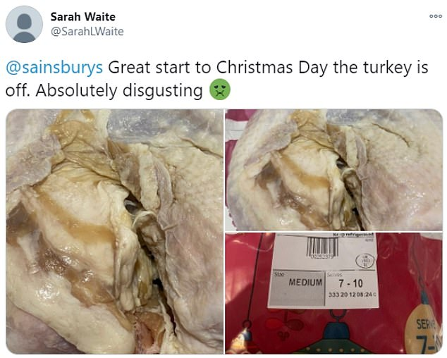 Furious customers have taken to social media to complain to the supermarkets about the rotten birds