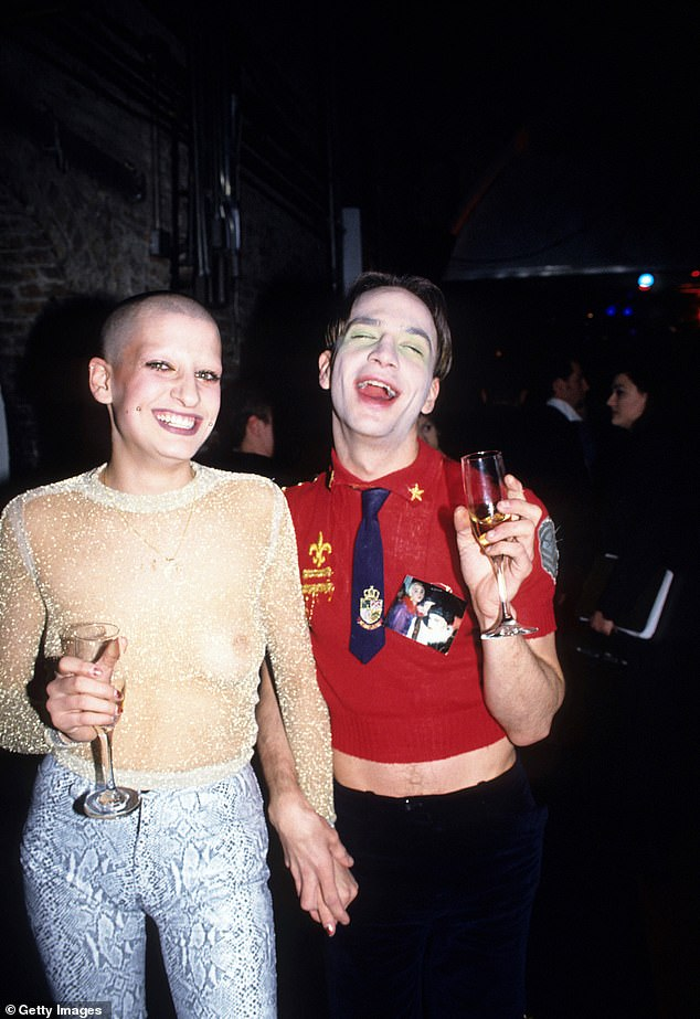 Alig is pictured at an event in 1995. He once proclaimed himself 'the King of the Club Kids'