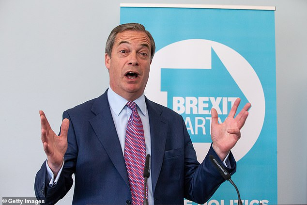 Nigel Farage (pictured) has given the agreement a magnanimous, if cautious, welcome