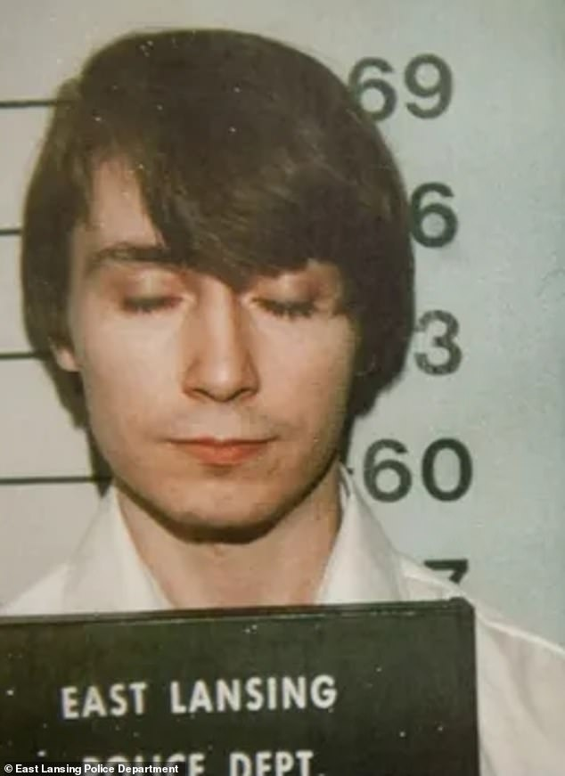 Miller (pictured above in 1978) was arrested two days after he raped Lisa Gilbert in her home in Eaton County, Michigan, in August 1978. During the assault, Randy Gilbert, Lisa's brother, walked into the home. While Miller attacked Randy, Lisa, who was bound and gagged, ran outside and flagged a vehicle for help, eventually leading to Miller's arrest