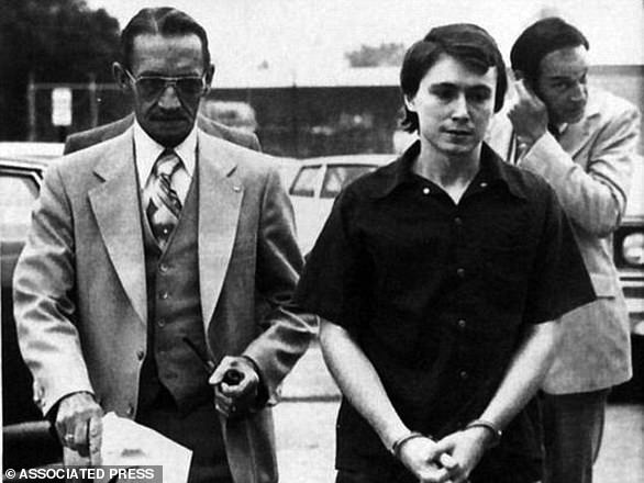 Don Miller is pictured in a 1979 photo being escorted into court for sentencing on two counts of manslaughter