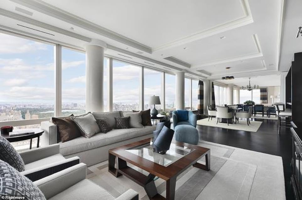 The property has stunning views of Central Park through its floor-to-ceiling windows making it a bright and open space