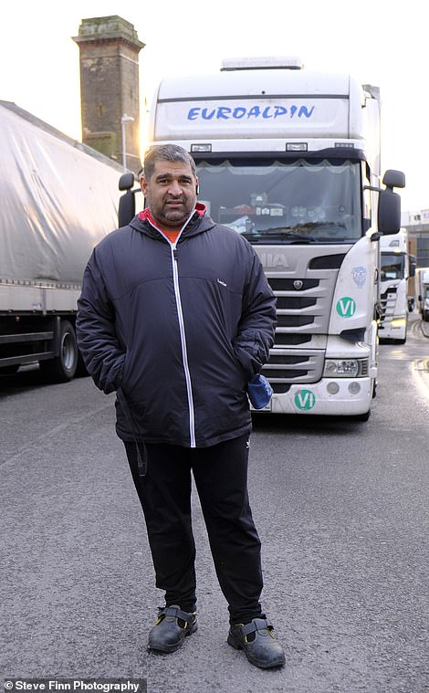 Lorry driver Doma Dumitru, 41, had been hoping to spend tomorrow