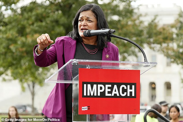 The 'Squad' introduced a bill alongside another progressive member of Congress, House Rep. Pramila Jayapal (above) of Washington State