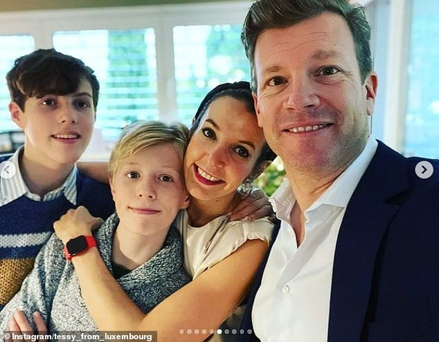 The former royal shared a selection of selfies snuggling up with her two sons Prince Gabriel of Nassau, 14, and Prince Noah of Nassau, 12,