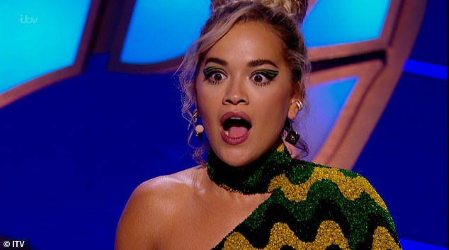 Surprise: Rita looked shocked when Sophie was unveiled as the Alien