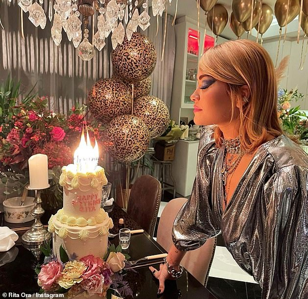 Shocking: Rita was forced to publicly apologise after it emerged she'd hosted a 30th birthday party at a London restaurant while the country was in lockdown