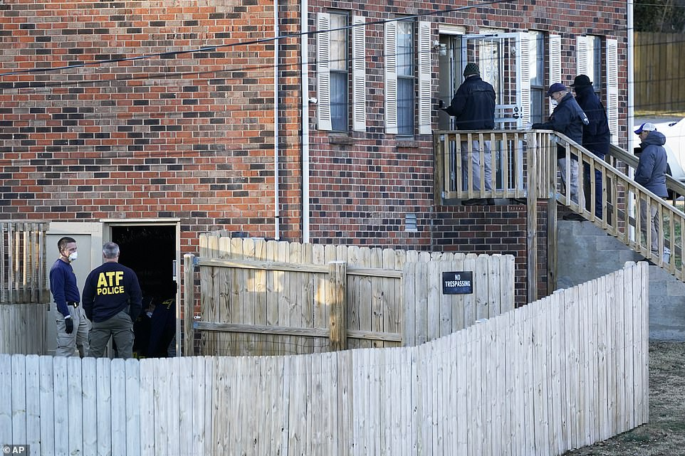 FBI agents swarmed the $160,000 property on Saturday morning in their hunt for the mystery RV driver behind the devastating blast outside Nashville's AT&T building in the early hours of Christmas morning