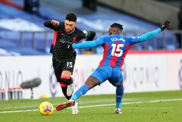 Oxlade-Chamberlain returned from injury against Crystal Palace.