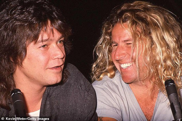 """The Rock & Roll Road Trip host asked Van Halen:'I said, """"Why don't you respond? I've been reaching out.""""And Ed said, """"Why didn't you call me? Don't f***ing call my brother, f***ing call me!"""" And I said, """"I love you man,"""" and it was like, boom, we were good. It was a beautiful thing' (pictured in 1987)"""