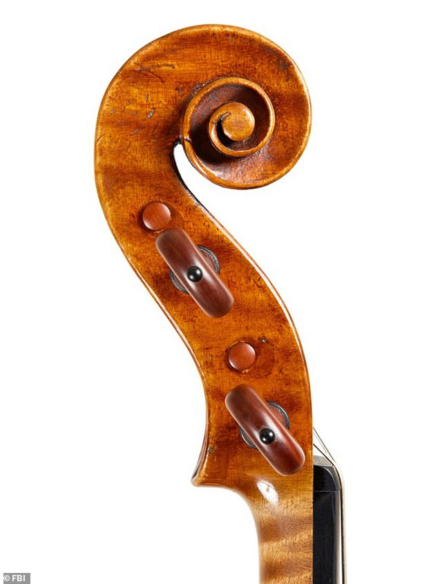 The instrument, which is made of curly maple and alpine spruce, was said to be in excellent condition at the time it was stolen