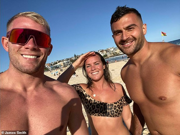 Pictured here with Lucy again as well as his best friend Diren Kartal - Diren is also an online fitness coach who once worked with James on the gym floor