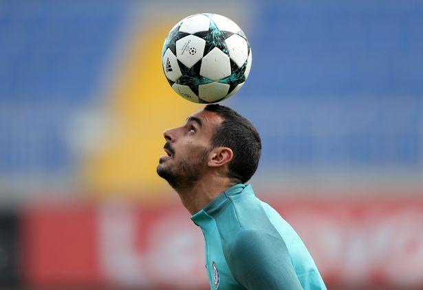 Davide Zappacosta in Chelsea training