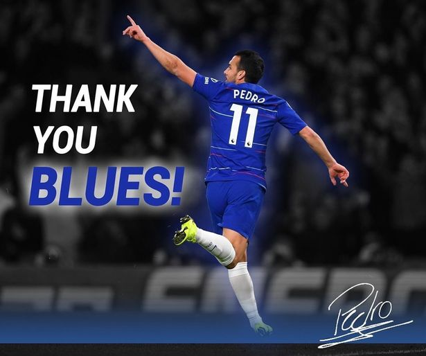 Pedro's Chelsea farewell Instagram post