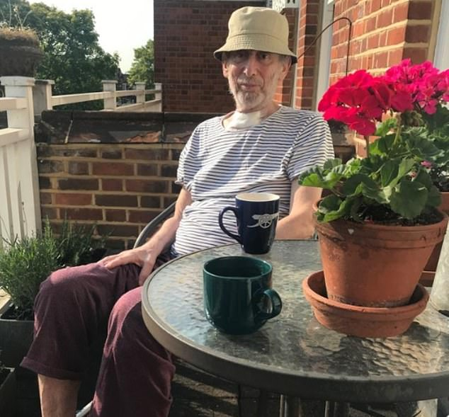Michael Rosen's wife, Emma-Louise Williams, shared a picture of the author on Twitter as he returned home for the first time following his battle with the illness and began recovering