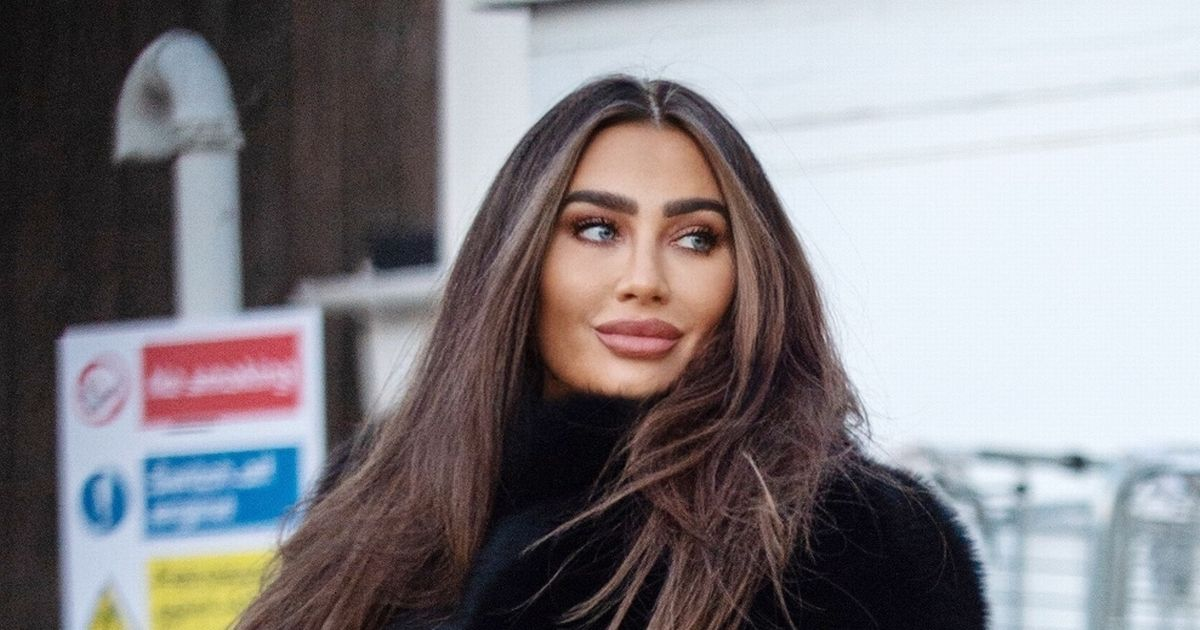 Lauren Goodger shows off gravity-defying bum in clinging see-through trousers