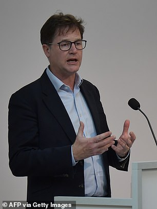 Facebook'shead of global policy and communications Sir Nick Clegg