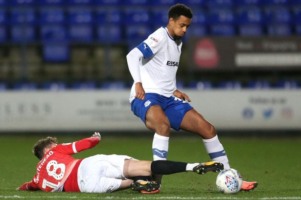 Cameron Borthwick-Jackson playing for Tranmere Rovers