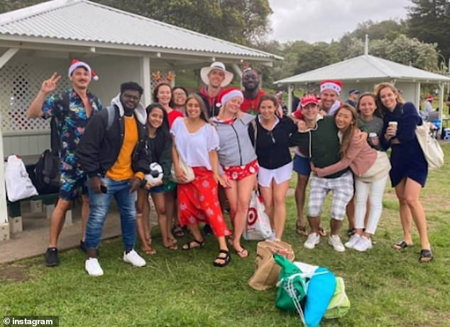 Some of the revellers who spent Christmas Day in Bronte. Gatherings of up to 100 people were permitted in Sydney at the time, but there were many more than that in the park at the height of the festive revelry. Witnesses said that many of the partygoers had English accents, some of them thought to be British backpackers