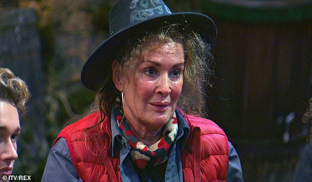 Soap queen: His on-screen wife, Beverley, recently look part in I'm A Celebrity... Get Me Out Of Here!