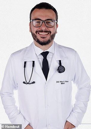 Dr João Pedro R. Feitosa (pictured), a 28-year-old from Rio De Janeiro, Brazil, was confirmed to be the volunteer who died in the Brazilian arm of AstraZeneca and the University of Oxford's coronavirus vaccine trial