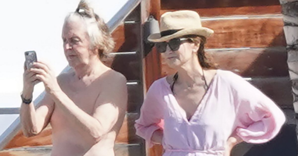 Topless Paul McCartney rocks trendy manbun during idyllic New Year holiday