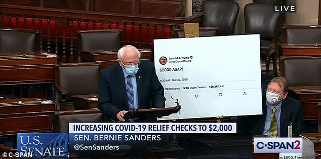 Senator Bernie Sanders took to the Senate floor to plead for the check amount to be increased