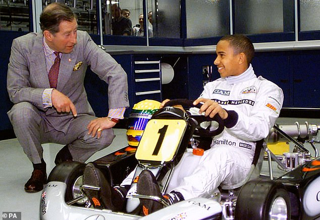 The seven-time Formula 1 champion, 35, is worth more than £250million, and quit the UK in 2007 to live in the tax havens of Switzerland and Monaco. Hamilton insists he does pay some tax in the UK.He is seen above, aged 14, with Prince Charles