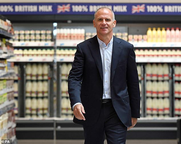There was also an award for Dave Lewis, the former chief executive of Tesco, who was knighted after turning round the supermarket's fortunes after the company was forced to admit it had overstated profits by £250million in 2014