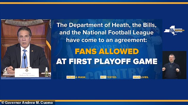 The playoff game will mark the first time spectators attend a professional sporting event in the state since the pandemic brought sports to a halt in mid-March