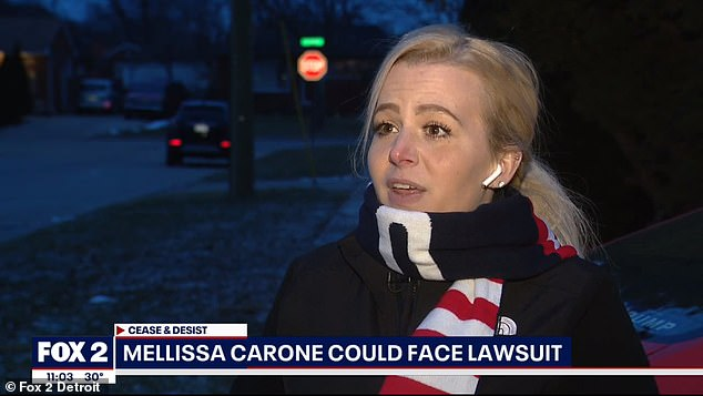 Carone (pictured), of Michigan, said in an interview Tuesday night : 'I don't know who the hell they think they are. Sorry, excuse my language, but they are not telling me what to do'