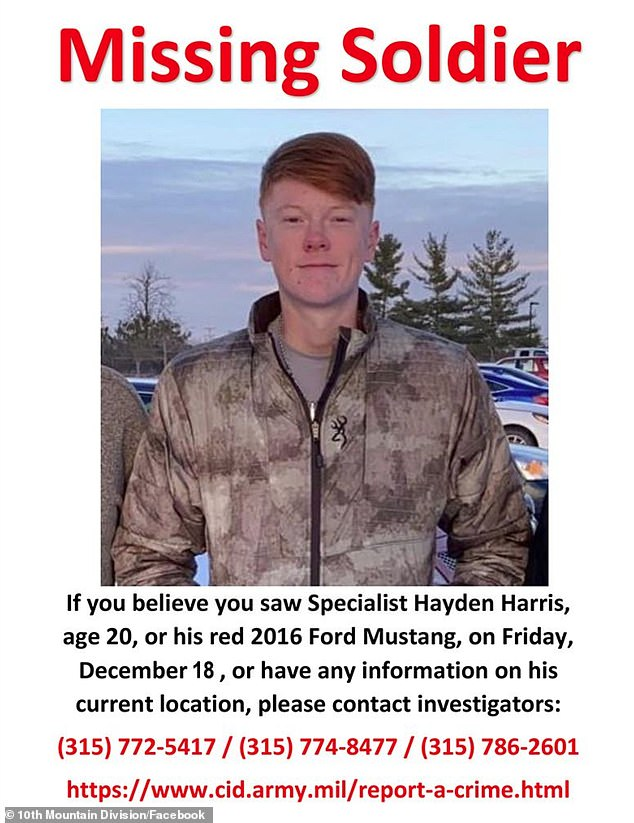 Harris left Fort Drum for Watertown, New York to meet fellow soldier Jamaal Mellish, 23, for a 'vehicle transaction'. Authorities believe Mellish abducted Harris, drove him from Watertown to Byram County, New Jersey and killed him