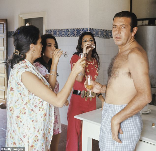 Grandfather: Francisco and Cayetano's grandfather, bullfighter Antonio Ordóñez, with his wife and daughters in 1972. Antonio was the son of fabled bullfighter Cayetano Ordóñez