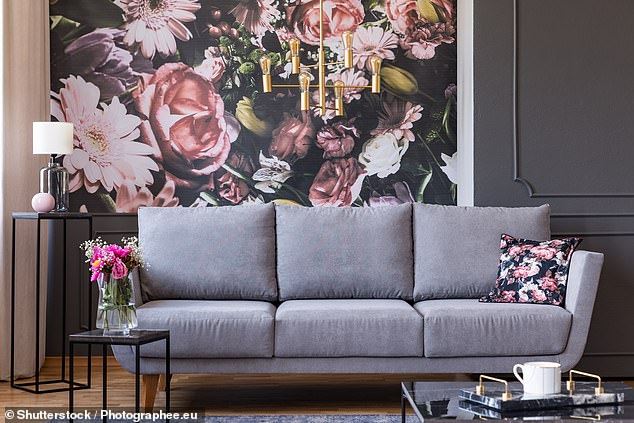 Florals have grown in popularity recently, but when it comes to following trends, less is more, Deirdre said (stock picture)