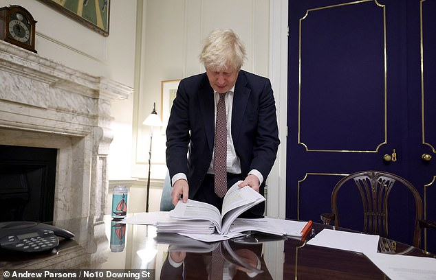 500 pages long… the historic dossier that's set Britain free from the EU
