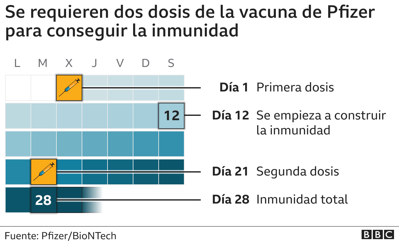 How long does it take to build immunity after getting vaccinated with the Pfizer and BioNTech compound