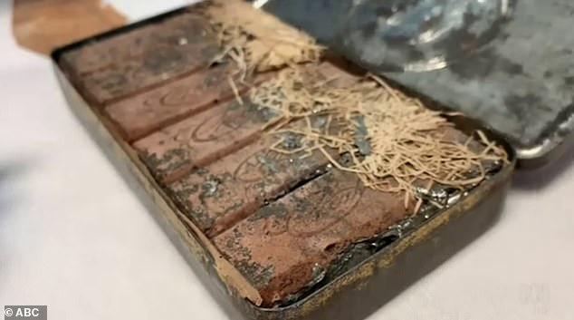 A 120-year-old box of chocolate is discovered in personal belongings of famous Australian is found