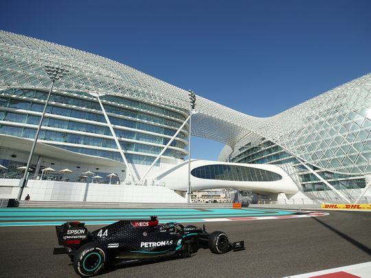 Abu Dhabi Grand Prix 2020: Lewis Hamilton back on track as Verstappen tops first practice