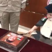 Abu Dhabi Police bring joy to a child born on December 2 to mark the UAE National Day