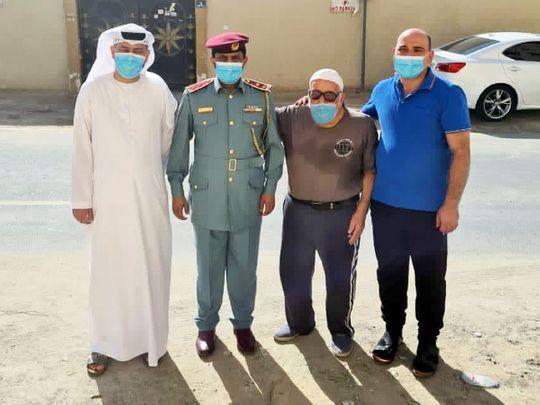 Ajman Police reunite elderly man with his family