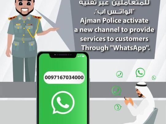 Ajman Police to provide services to public via WhatsApp
