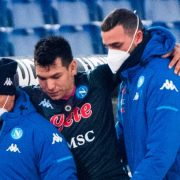 """Alert in Naples: """"Chucky"""" Lozano was injured and with help in the defeat against Lazio 